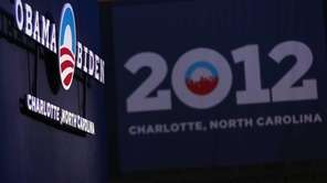 The Democratic National Convention Committee unveils the logo
