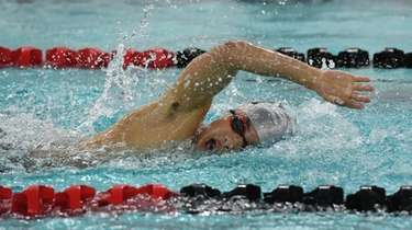 Half Hollow Hills' Samuel Park swims the 200