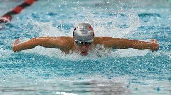 Half Hollow Hills' Joshua Lee swims the 100