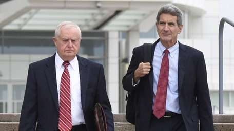 Former Suffolk District Attorney Thomas Spota, left, and