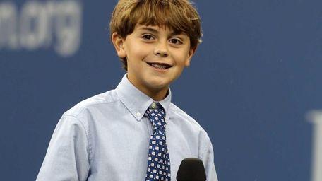 Ten-year-old Brandon Gicquel of Huntington performs