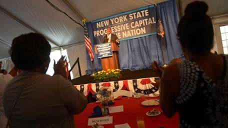 Assemblyman Hakeem Jeffries of New York speaks during