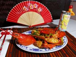 Lobster with ginger and scallions at Palace of