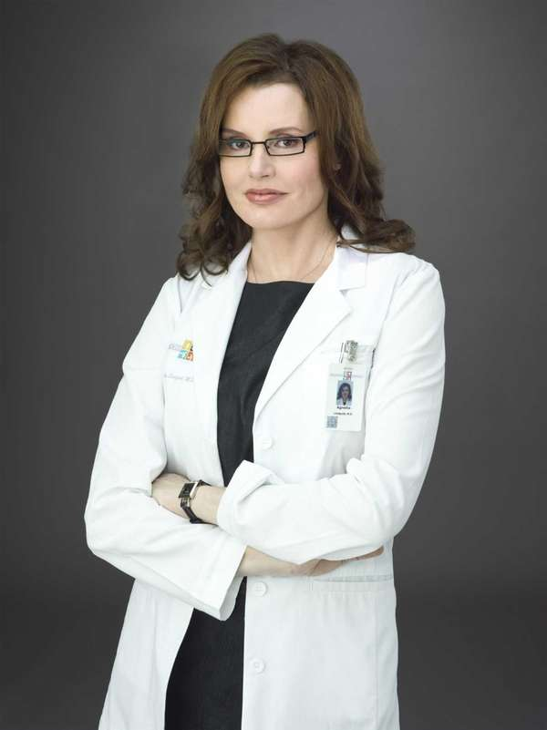 Geena Davis plays the chief of psychiatry conducting