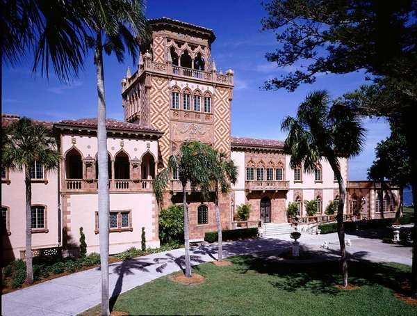 The restored homestead of John Ringling is seen