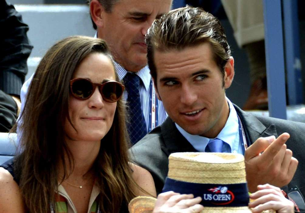 From left, Pippa Middleton and Spencer Vegosen watch