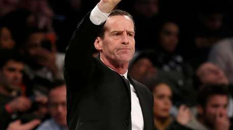 Nets head coach Kenny Atkinson during the first