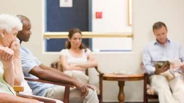 Stock image of a waiting room at a