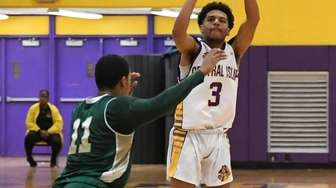 Central Islip guard Ty-Shon Pannell shoots for a