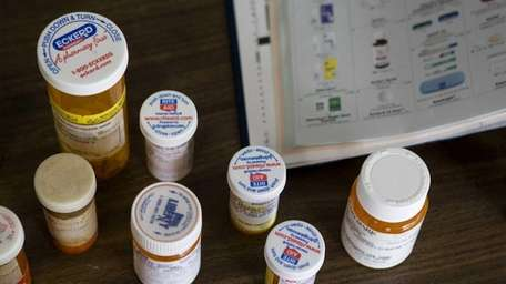 Prescription medications are displayed during Nassau County's 2009