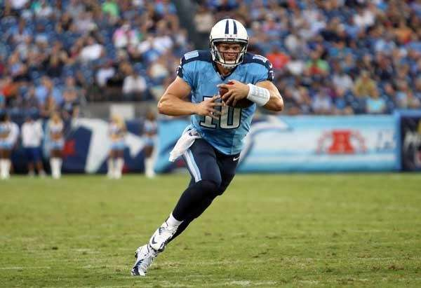 Jake Locker #10 of the Tennessee Titans