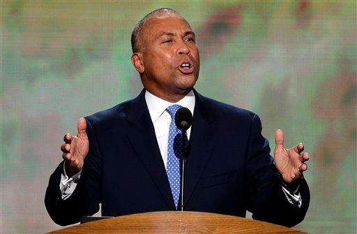 Massachusetts Gov. Deval Patrick addresses the Democratic National
