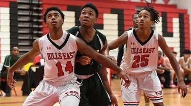 Half Hollow Hills East's Dante Green, left, Grant
