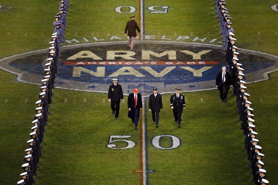 President Donald Trump and Secretary of Defense Mark