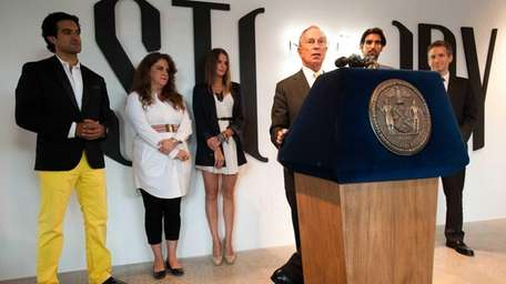 Mayor Michael Bloomberg introduces winners of Project Pop-Up
