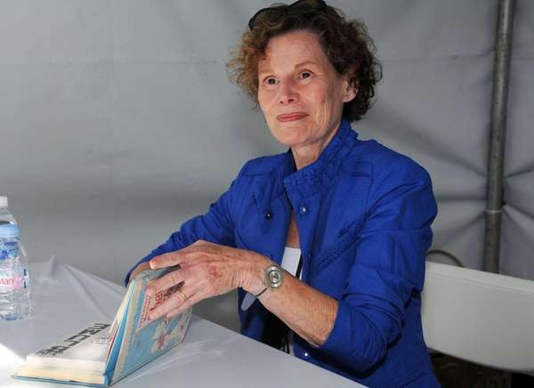 Author Judy Blume blogged on Sept. 5, 2012