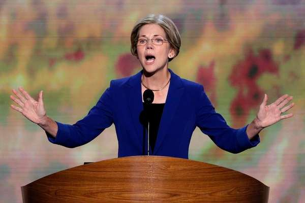 Massachusetts Senate candidate Elizabeth Warren addresses the Democratic