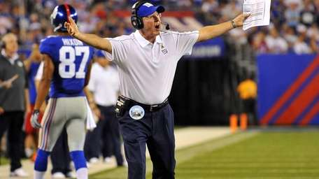 Tom Coughlin erupts at the officials after he