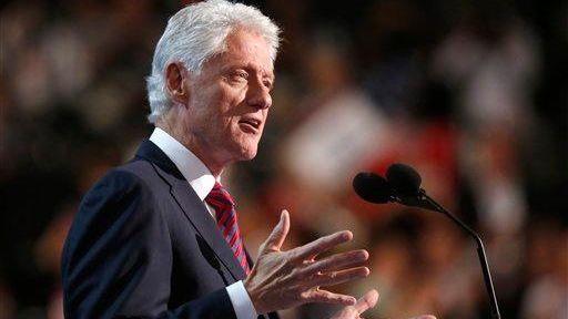 Former President Bill Clintonaddresses delegates at the Democratic
