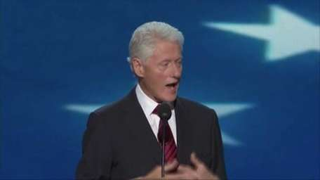 Bill Clinton addresses the Democratic National Convention in