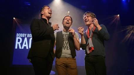 Isaac Hanson, Zac Hanson, and Taylor Hanson of