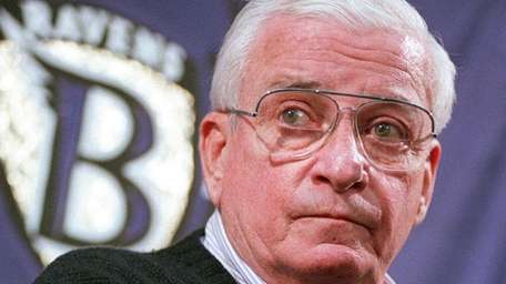 Baltimore Ravens owner Art Modell attends a news