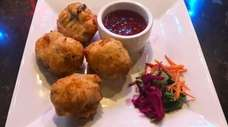 Codfish fritters at Hush Restaurant & Lounge, a