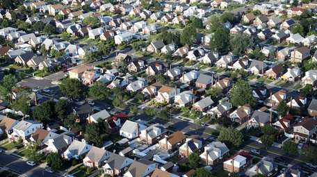 A neighborhood of houses in Elmont is seen
