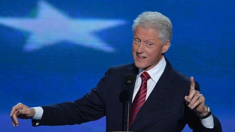 Former President Bill Clinton delivers the keynote speech