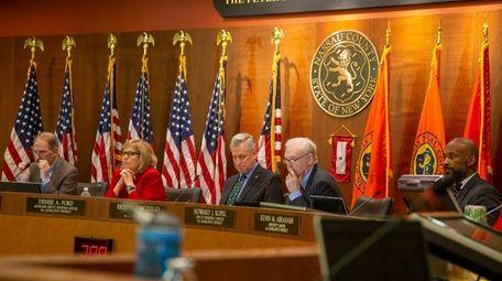 The Nassau County Legislature meets on Monday.