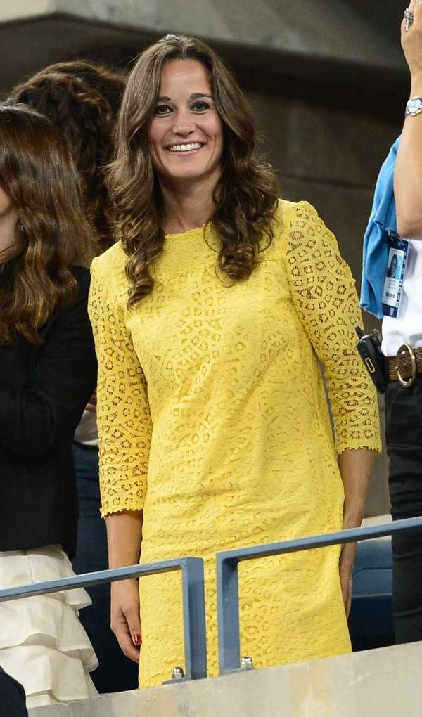 Pippa Middleton watches Czech Tomas Berdych play against
