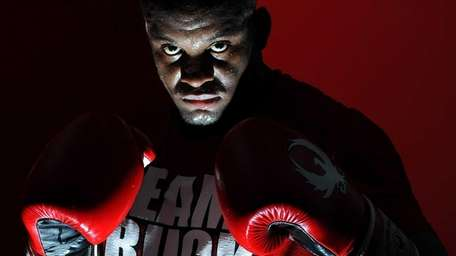 MMA fighter Eddie Gordon, from Freeport, poses for