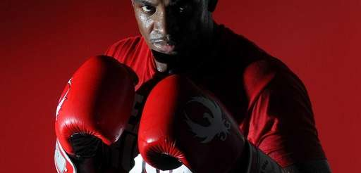 MMA fighter Eddie Gordon, from Freeport, poses for