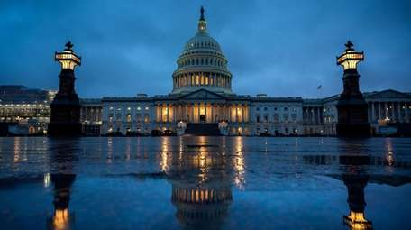 A view of the U.S. Capitol in the