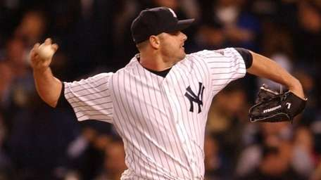 Roger Clemens at the mound during the first