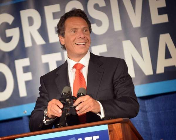 New York State Governor Andrew Cuomo speaks during