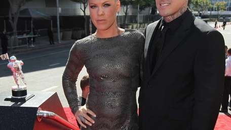 Pink and Carey Hart arrive at the MTV