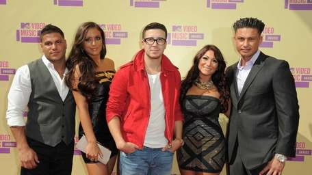 """Cast members from MTV's """"Jersey Shore,"""" from left,"""
