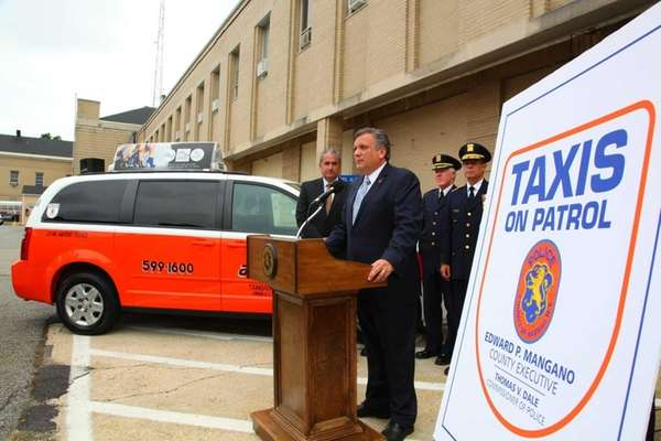Nassau County Executive Edward Mangano joined by Police