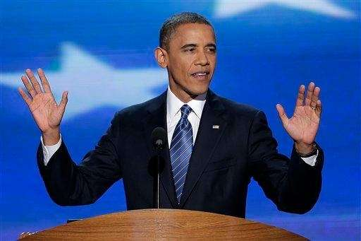 President Barack Obama addresses the Democratic National Convention