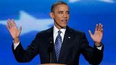 President Barack Obama addresses the Democratic National Convention