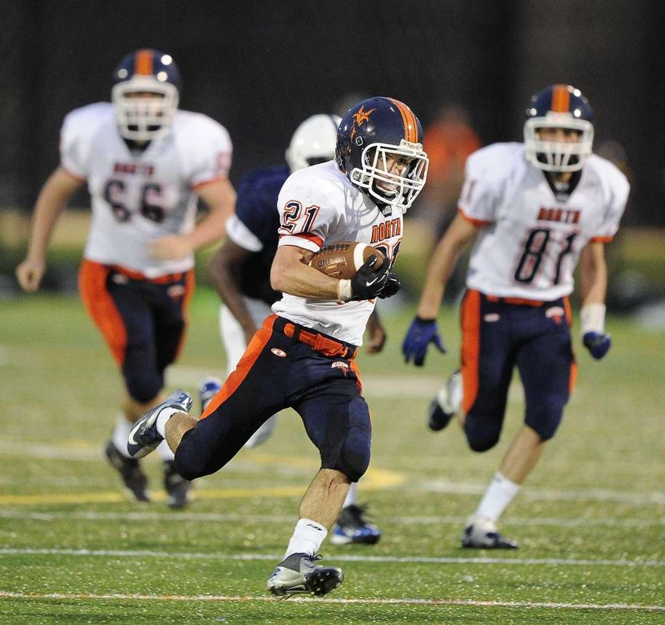 Great Neck North's Justin Sedaghat runs the ball