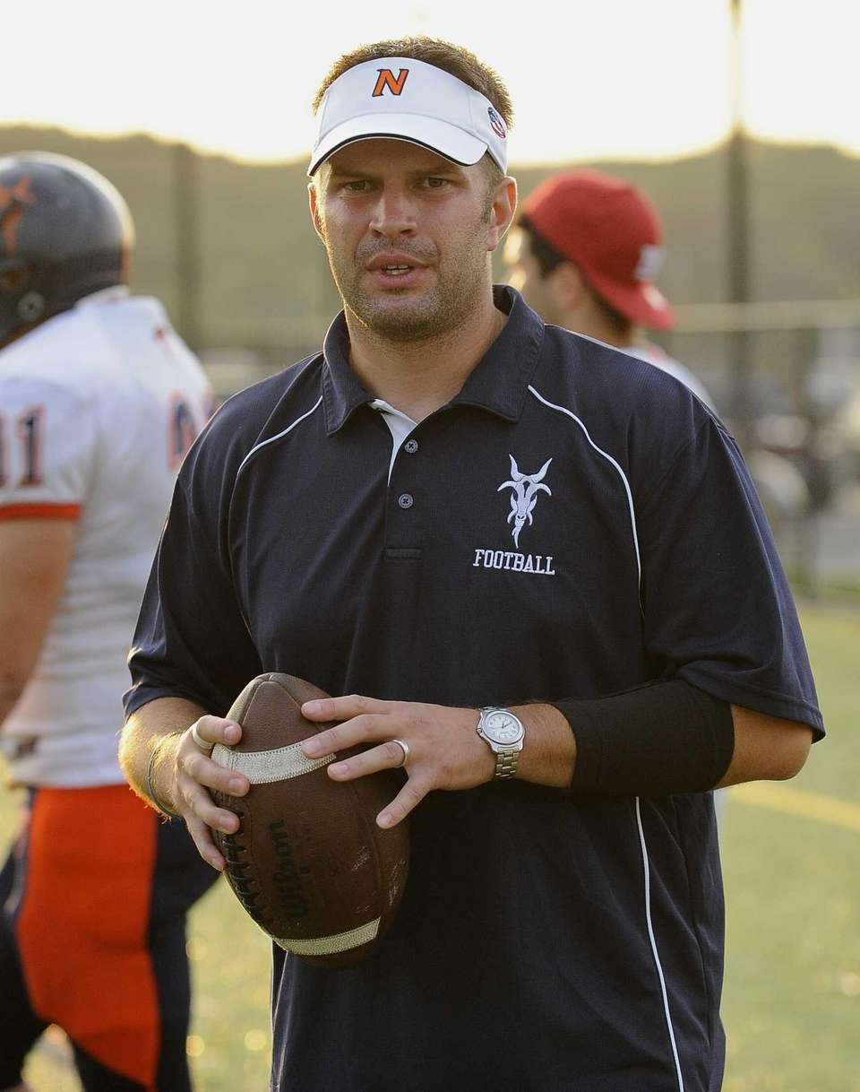 Great Neck North head coach Chris Ceasar is