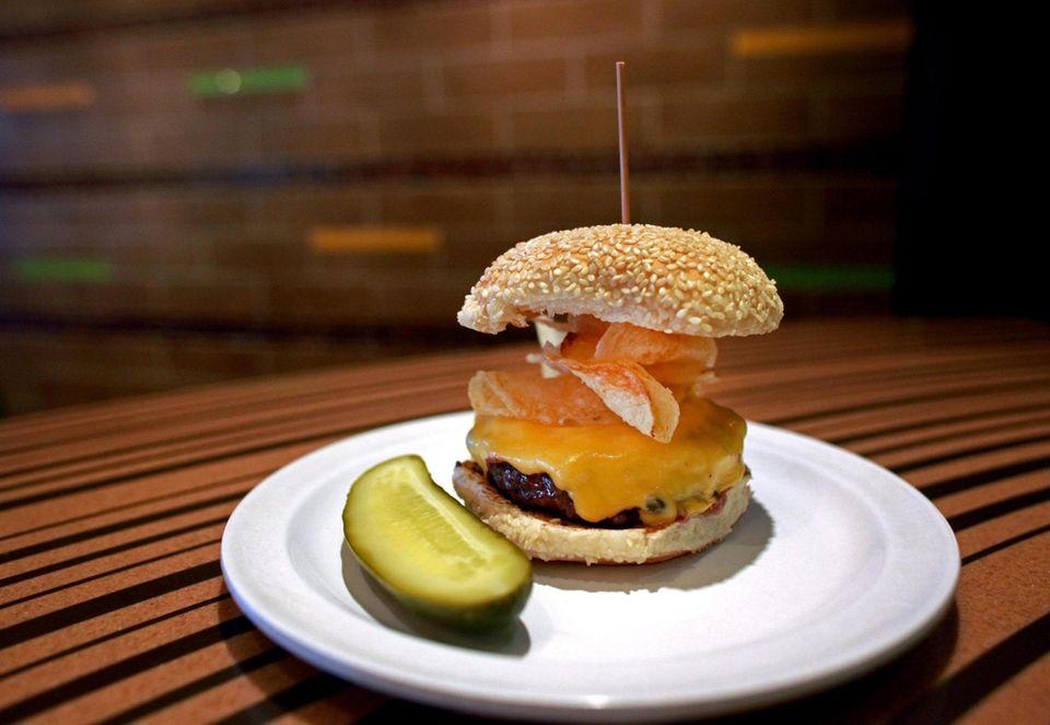 The Crunchburger at Bobby's Burger Palace.