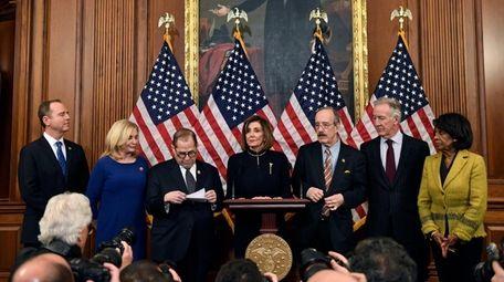 House Speaker Nancy Pelosi (D-Calif.), speaks on Capitol