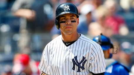 Jacoby Ellsbury of the Yankees strikes out to