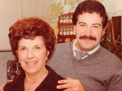 Charlie Buthmann and his mother, Winnie, in 1977.