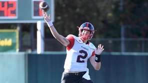 Plainedge quarterback, Dan Villari, the 2019 Thorp and Snyder