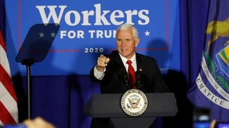 Vice President Mike Pence at a campaign rally