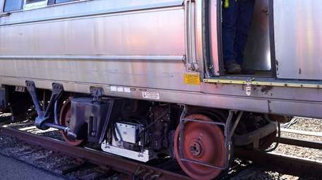 The LIRR gives a demonstration on Friday, Oct.18,